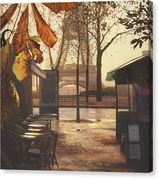 Paris Canvas Print - Breakfast In Paris by Helen Parsley