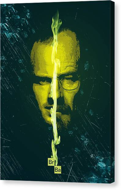 Breaking Bad Poster Heisenberg Print Walter White And Jesse Pinkman Portrait Wall Decor Canvas Print