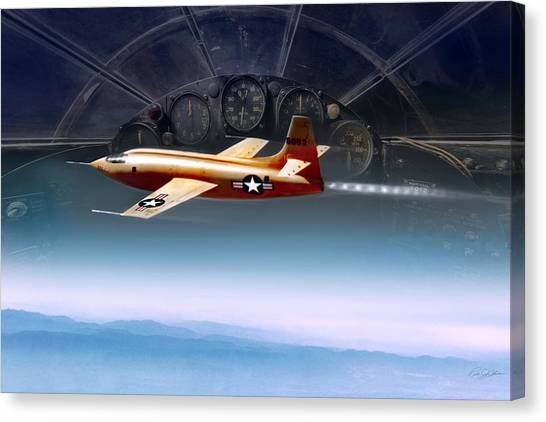 Breaking Sound Barrier Canvas Print - Breaking Barriers  by Peter Chilelli