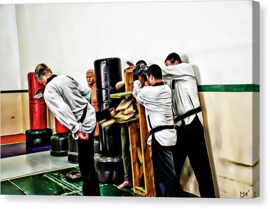 Taekwondo Canvas Print - Breaking Boards by Gina O'Brien