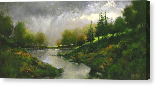 Canvas Print - Breaking Clouds by Jim Gola