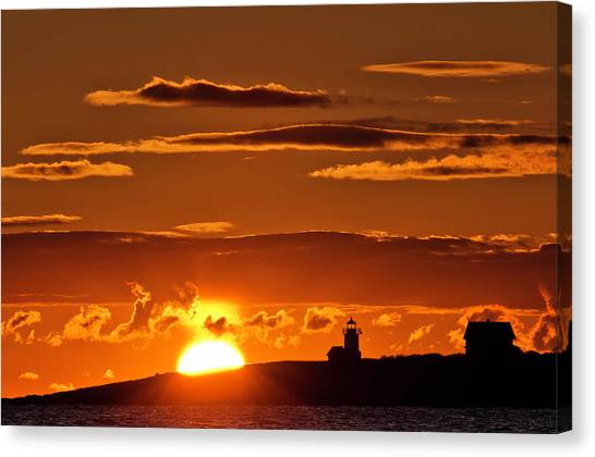 Breaking Dawn Over Straitsmouth Canvas Print
