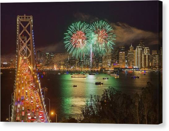 Breaking Rules On New Year's Eve Canvas Print