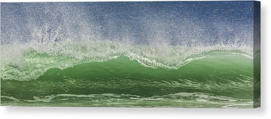 Aqua Wave Canvas Print by Paula Porterfield-Izzo