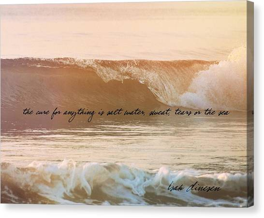 Breaking Wave Quote Canvas Print