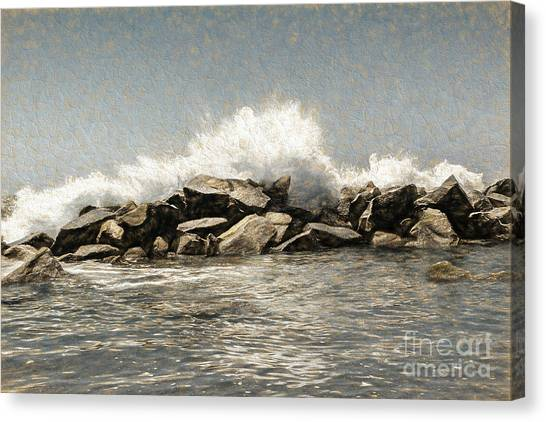 Breakwater 2 Canvas Print