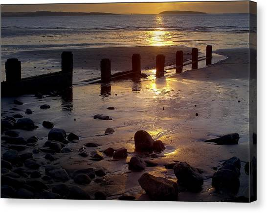 Breakwater At Penmaenmawr Canvas Print