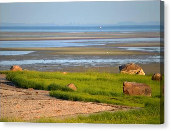 Breakwater Beach At Low Tide Canvas Print
