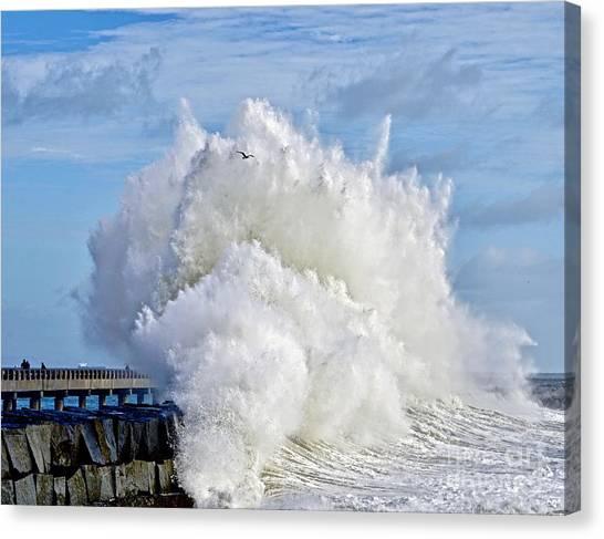 Breakwater Explosion Canvas Print