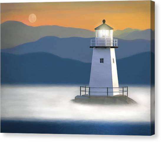 Breakwater Light Canvas Print by James Charles