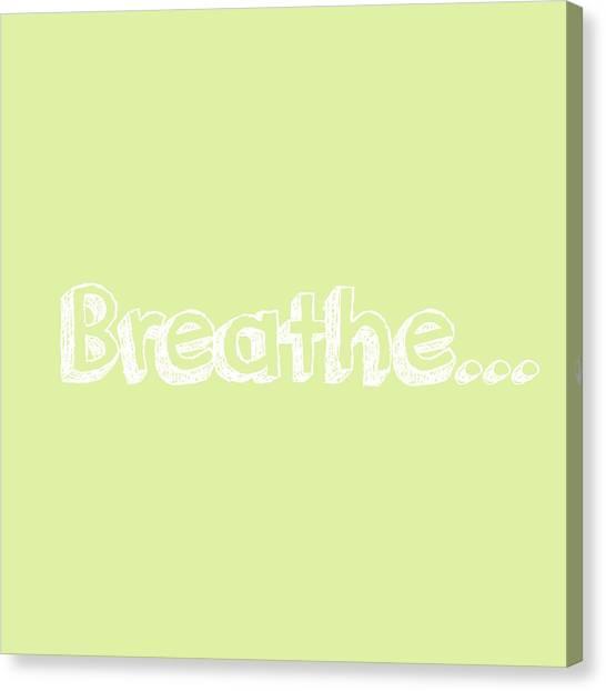 Breathe - Customizable Color Canvas Print