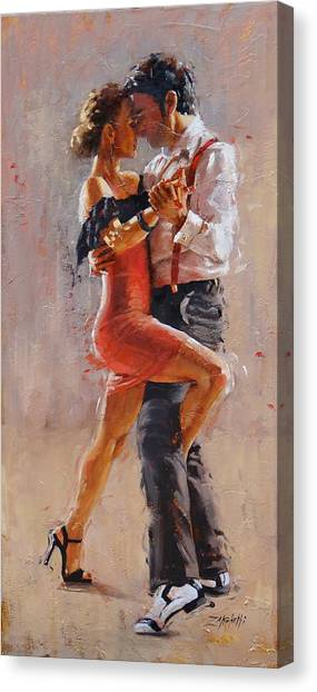 Tango Canvas Print - Breathless by Laura Lee Zanghetti