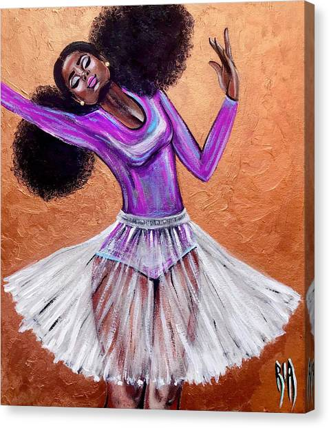 Ballet Canvas Print - Breathtaking Moments by Artist RiA