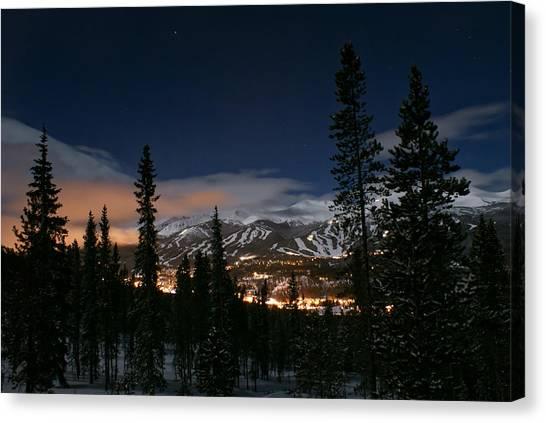 Breckenridge Moon Lit Night Canvas Print