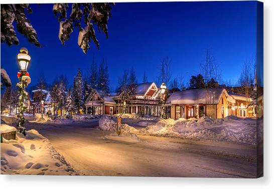 Breckenridge Winter Morning Canvas Print