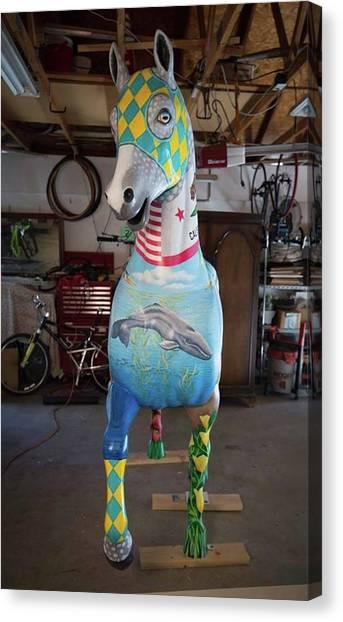 Breeders Cup Fiberglass Horse Front Canvas Print