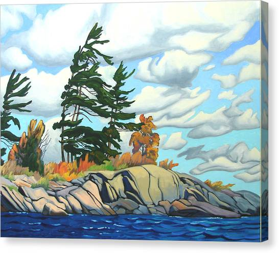 Breezy Day Georgian Bay Canvas Print by Paul Gauthier