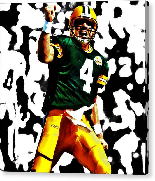 Reggie White Canvas Print - Brent Farve On Fire by Brian Reaves
