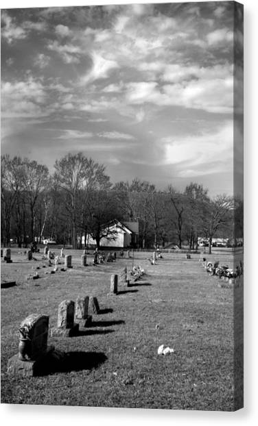 Brentway-cemetery Canvas Print by Curtis J Neeley Jr