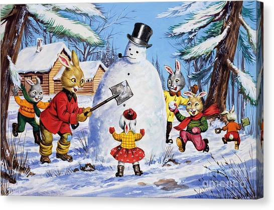 Snowball Canvas Print - Brer Rabbit From Once Upon A Time by Virginio Livraghi