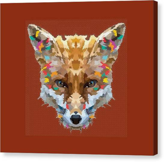 Brerr Fox T-shirt Canvas Print