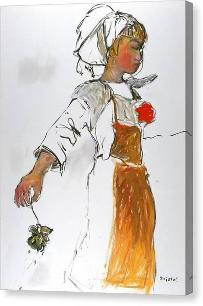 Breton Girl Canvas Print