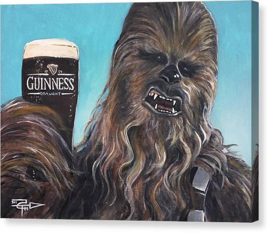 Chewbacca Canvas Print - Brewbacca by Tom Carlton