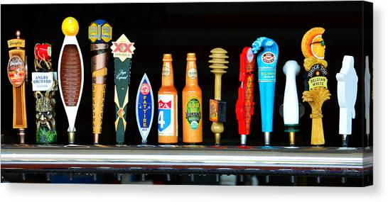Craft Beer Canvas Print - Brewers Line Up by David Lee Thompson