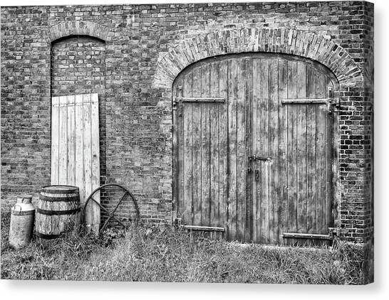 Canvas Print featuring the photograph Brewhouse Door by Nick Bywater