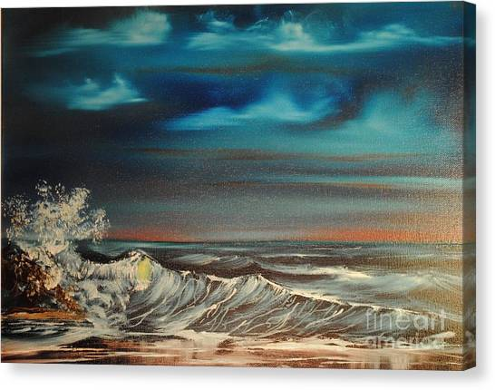 Brewing Storm Canvas Print by James Higgins