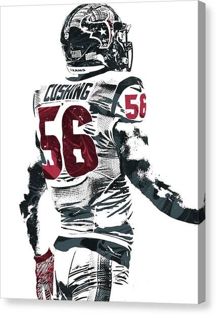 Houston Texans Canvas Print - Brian Cushing Houston Texans Pixel Art 2 by Joe Hamilton