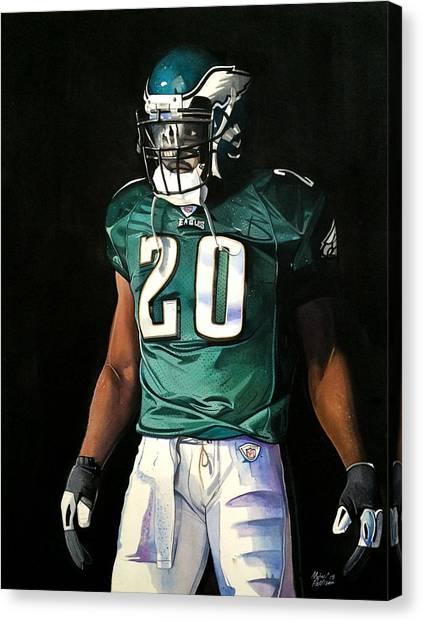Philadelphia Eagles Canvas Print - Brian Dawkins Weapon X - Philadelphia Eagles by Michael  Pattison