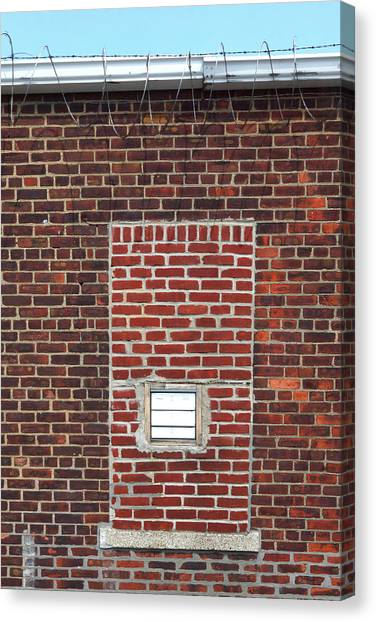 Brick And Barbed Wire Canvas Print
