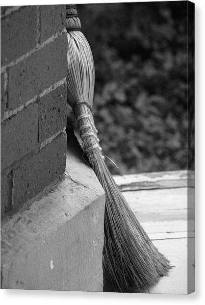 Brick And Broom Canvas Print