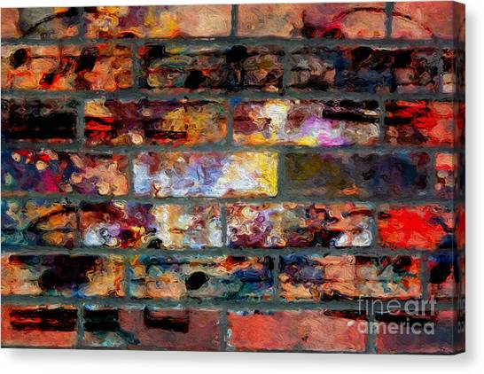 Brick Con Brio Canvas Print