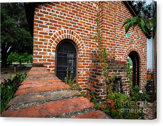 Brick Courtyard Canvas Print