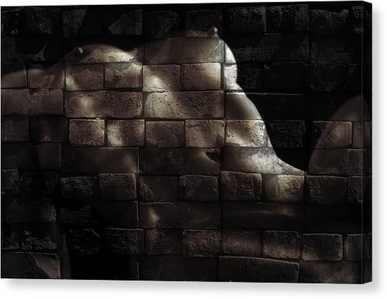 Abstract Nude Canvas Print - Bricks by Naman Imagery