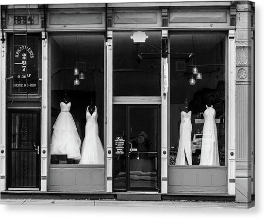 Bridal Gowns Canvas Print by Al White