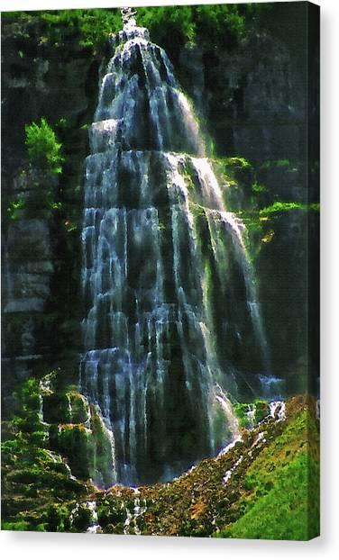 Bridal Veil Falls Canvas 2 Canvas Print by Steve Ohlsen