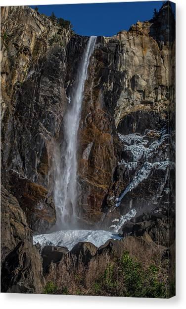 Bridal Veil Falls On Ice Canvas Print