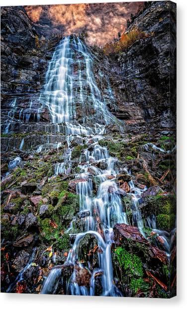 Bridal Veil Falls Utah Canvas Print