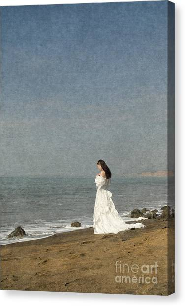 Bride By The Sea Canvas Print