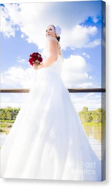Luminous Body Canvas Print - Bride In White Wedding Dress by Jorgo Photography - Wall Art Gallery