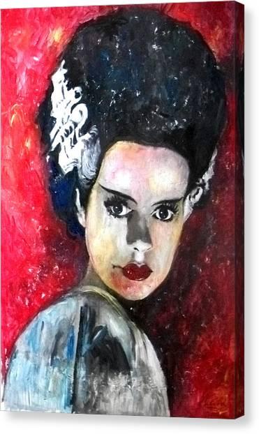 Grinch Canvas Print - Bride Of Frankenstein by Marcelo Neira