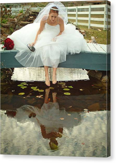 Brides Reflection Canvas Print by Ken Gimmi