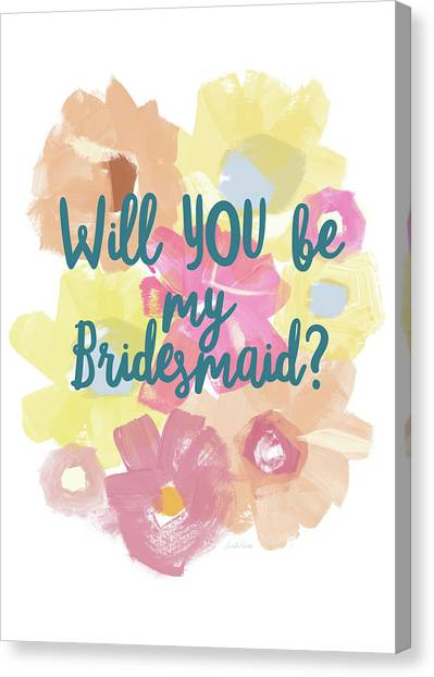 Bride Canvas Print - Bridesmaid Floral- Art By Linda Woods by Linda Woods