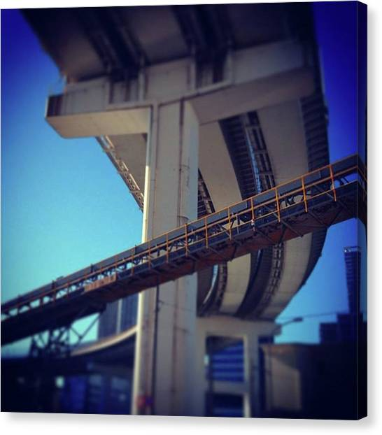 #bridge #橋 #actcute Canvas Print by Bow Sanpo