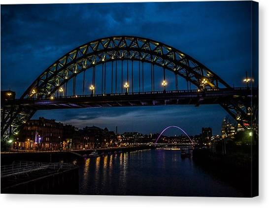 Bridge At Dusk Canvas Print
