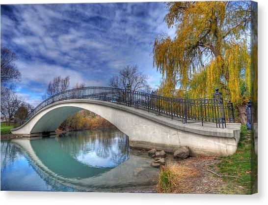 Bridge At Elizabeth Park Canvas Print