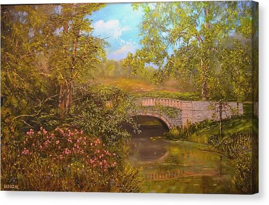 Bridge At Minterne Canvas Print